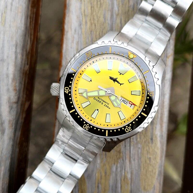 HEIMDALLR-ساعة غوص للرجال ، ساعة يد ميكانيكية يابانية NH36A مقاومة للماء حتى 200 متر من الكريستال الياقوتي