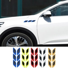 Car Truck SUV Reflective Strips Carbon fiber Stickers Auto Motorcycle Anti-Scratch Safety Warning De