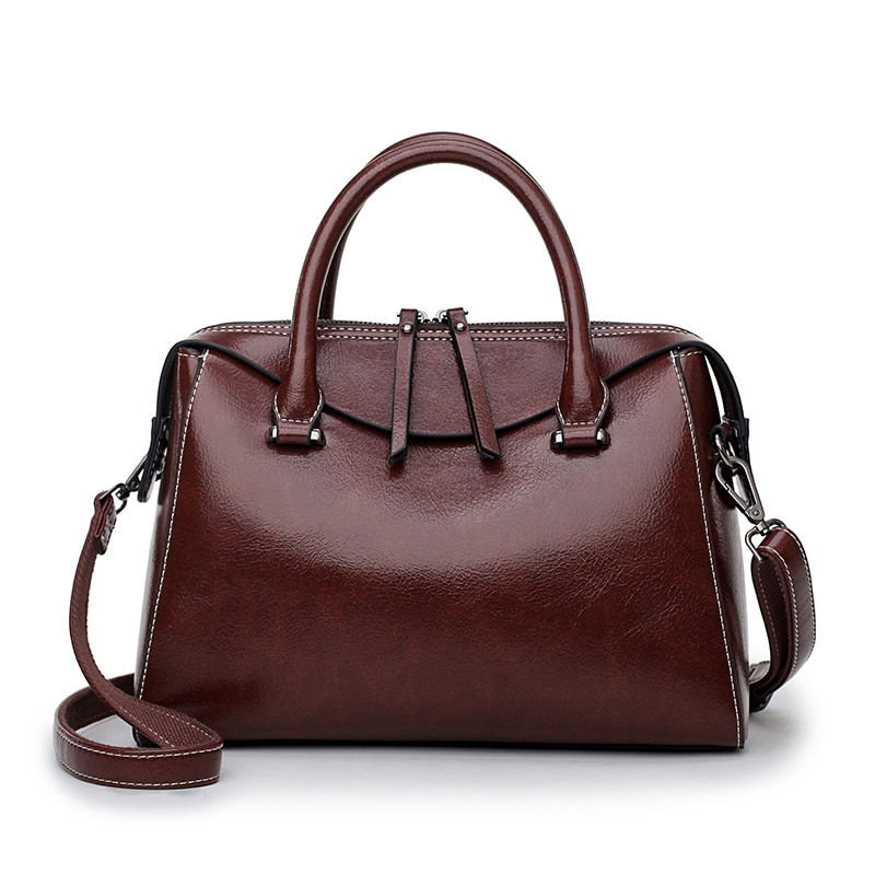 Women Messenger Bag Genuine Leather Bag for Women 2021 One-shoulder Portable Large Capacity Cross Body Bag Fashion Boston Bag Gg