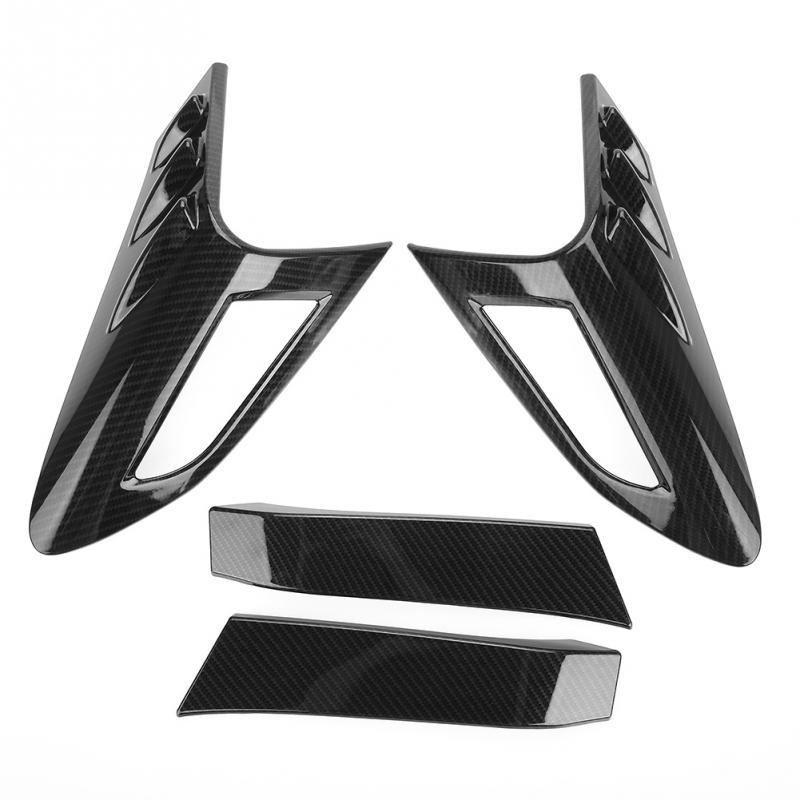 4 Uds. Cubierta de luz trasera ABS para Toyota CHR estilo de fibra de carbono estilo de coche