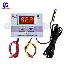 diymore W3001/W3002/W3003 Digital LED Temperature Controller AC 220V DC 24V/12V 10A with Thermostat 10K NTC Sensor Probe