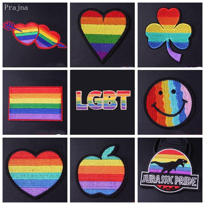 Прайна ЛГБТ патч гордость геев вышитые патчи для одежды полоса железа на патчи значок наклейка на одежду DIY Аппликация Шитье