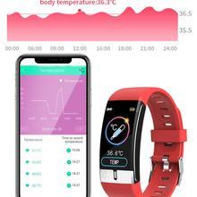 E66 Fitness Tracker Armband Körper Temperatur EKG Smart Armband Herz Rate Monitor Smart Uhr Musik Control Sport Band VS T1