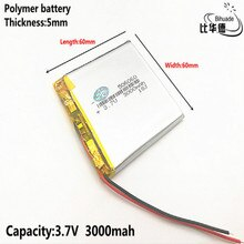 1pcs 폴리머 배터리 3000 mah 3.7 v 506060 스마트 홈 mp3 스피커 dvr, gps, mp3, mp4, 휴대 전화, 스피커에 대 한 리튬 이온 배터리