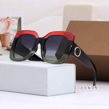 Lunettes de soleil carrées surdimensionnées   Nouvelle collection de lunettes de soleil pour femmes de luxe de styliste, lunettes de soleil Style dété, ombres UV400 cadre Tricolor