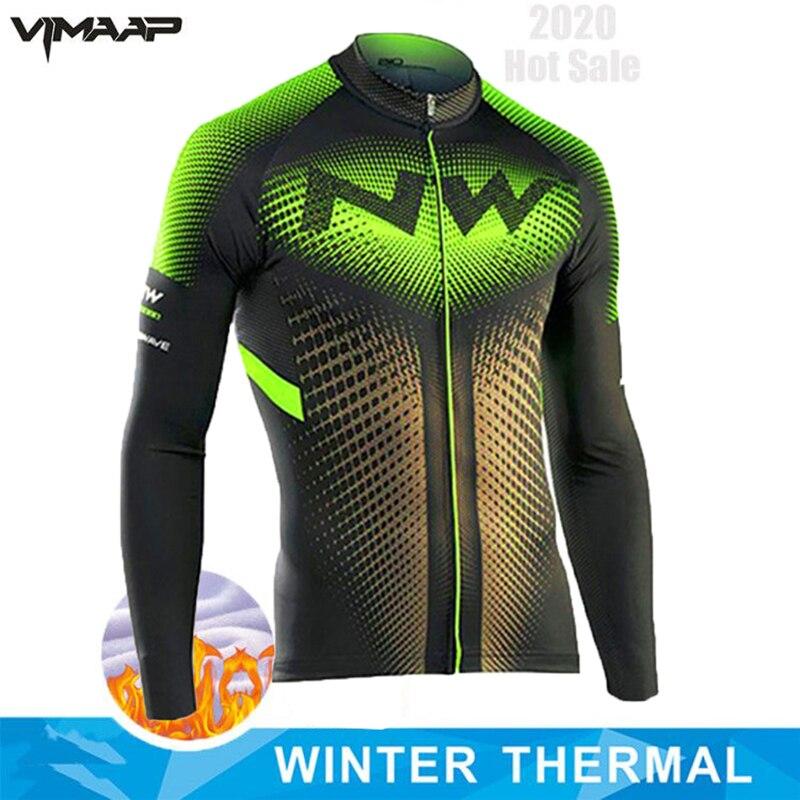 Northwave 2020 hiver cyclisme maillot hommes thermique polaire à manches longues vêtements de vélo coupe-vent vtt vélo Jersey veste Ciclismo