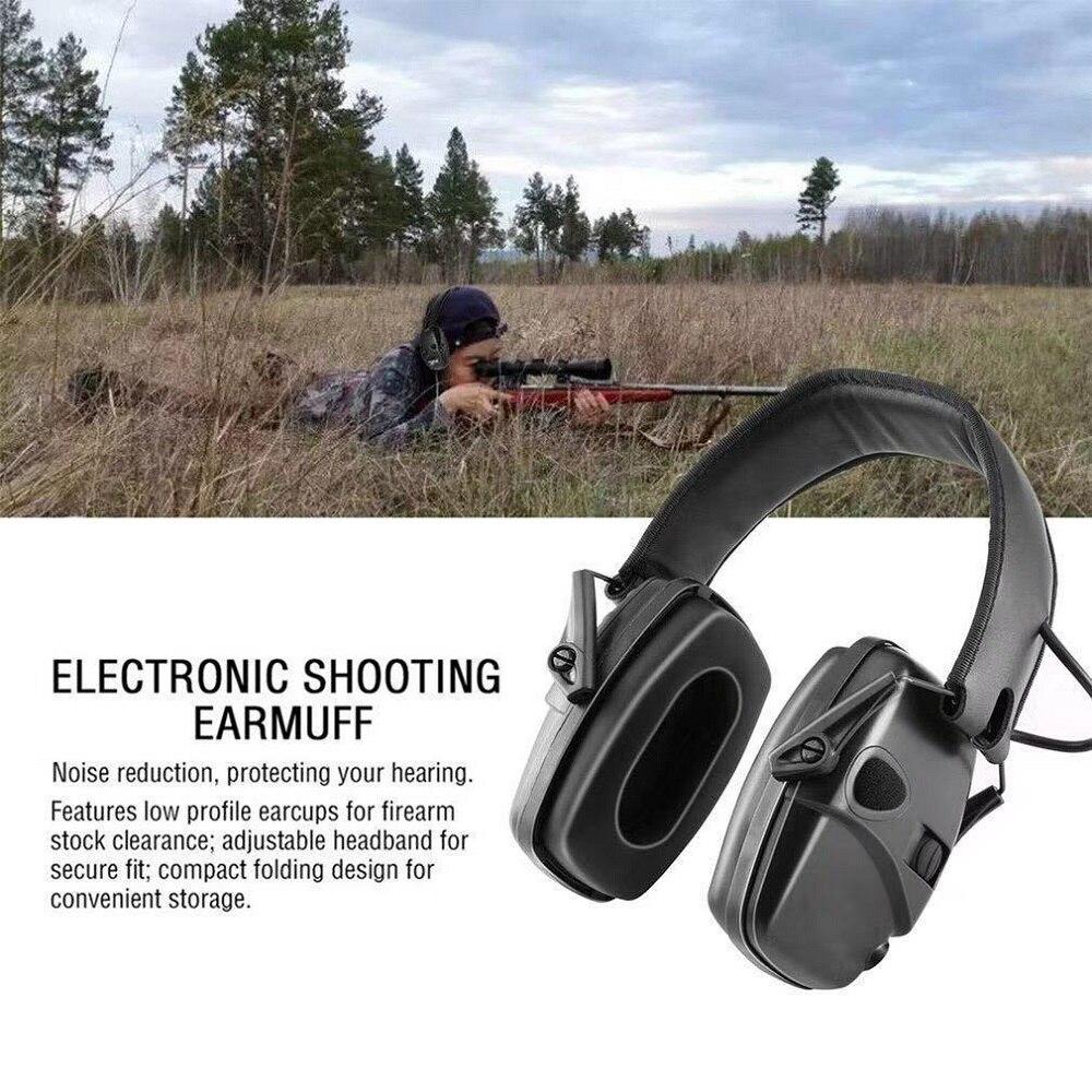 إلكتروني اطلاق النار سماعات الأذن المضادة للضوضاء تأثير واقي أذن في الهواء الطلق الرياضة تضخيم الصوت سماعة طوي حامي السمع