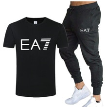 2021 summer fashion brand T-shirt men + casual sports pants, summer fitness clothes, men's suits