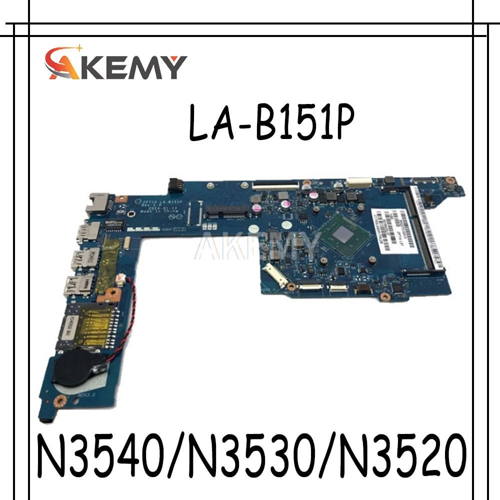 Placa base para portátil 755724-501 755724-001 para For HP pavilion 11-n x360 series LA-B151P w/ CPU N3540/N3530/N3520 = 4 núcleos 100% de funcionamiento