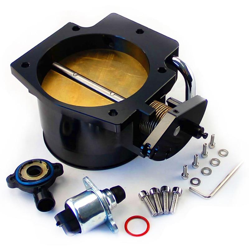 102Mm Throttle Body+TPS IAC Throttle Position Sensor for LSX LS1 LS2 LS6 LS7(Black)