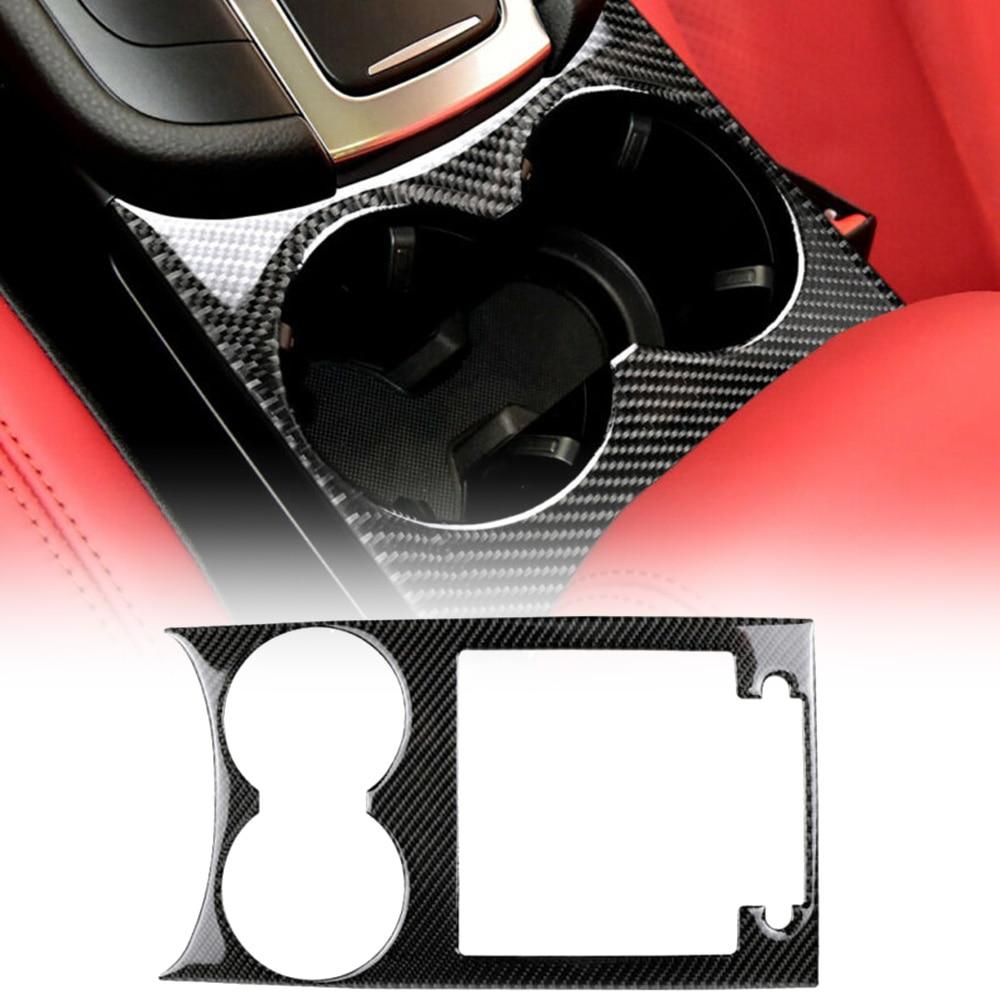 1 * decoración negra para portavasos de coche, Panel Interior embellecedor, diseño elegante, fibra de carbono para Porsche Macan 2015-2018