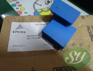 2PCS NEW EPCOS B32656S6475J 4.7UF 630V PCM37.5 film capacitor B32656 475/630V p37.5mm MKP 4.7uf/630v 4u7 475 630VDC