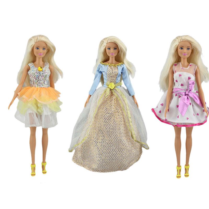 3 шт. в 1, новое платье, Одежда для куклы-Барби, аксессуары для куклы. (обувь не входит в комплект)
