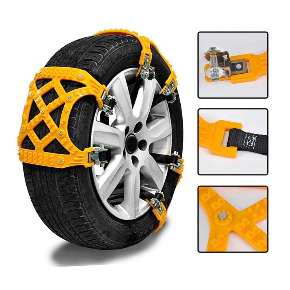 Cadenas de nieve antideslizantes para coche de TPU de 3 piezas, neumáticos universales de 54 puntas, neumáticos generales de automóvil para SUV carretera cadenas de seguridad