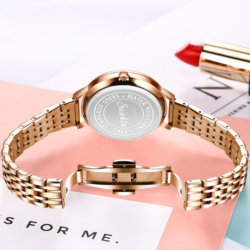 SUNKTA Woman Watches Rose Gold Top Brand Luxury Ladies Watch  Quartz Waterproof Female Wristwatches For Women Girls Watch Clocks enlarge