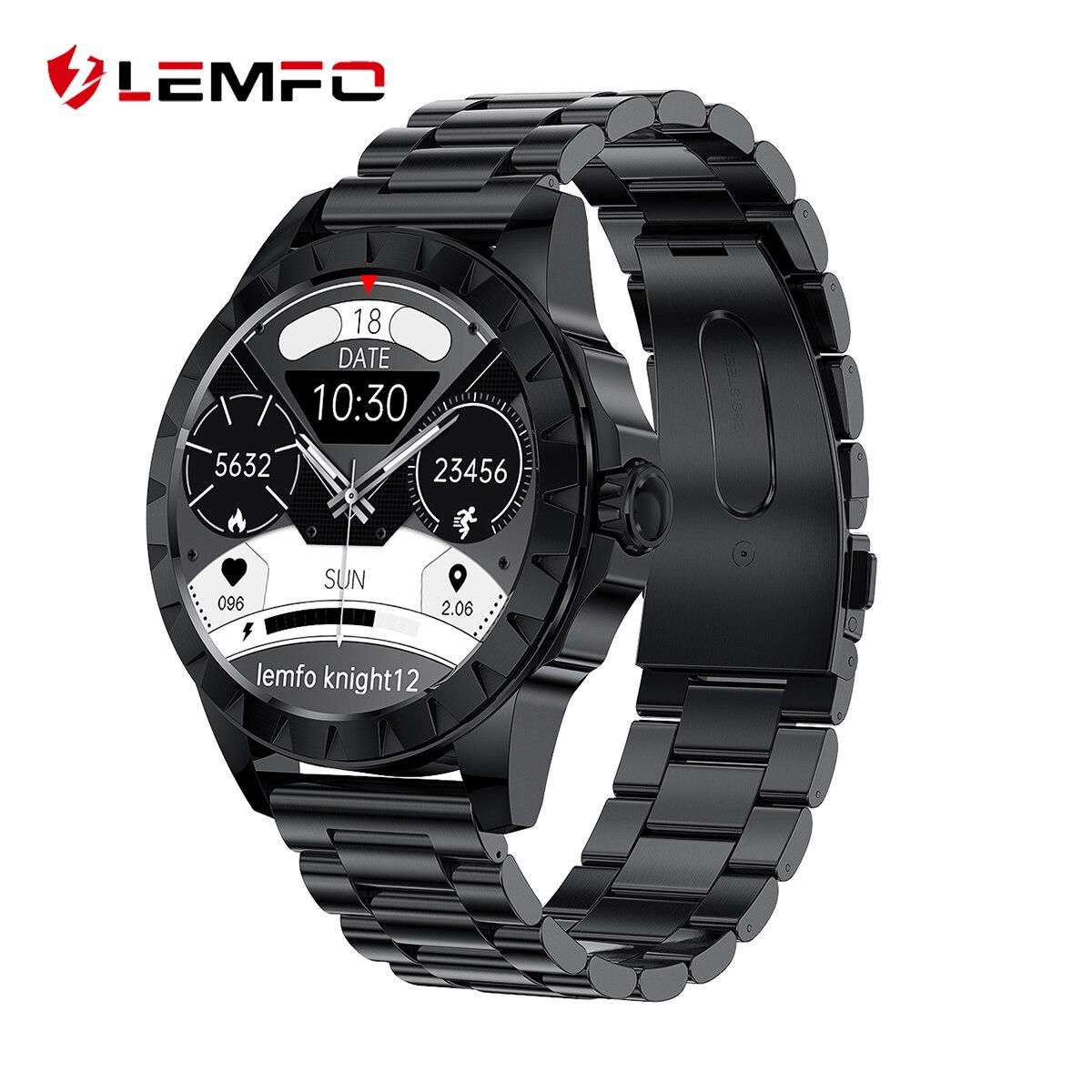 LEMZ ساعة ذكية الرجال 2021 بلوتوث دعوة البوصلة الحقيقية ECG الصحة رصد AMOLED شاشة الرياضة ساعة ذكية ذكية