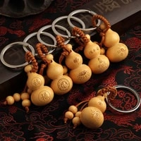 1pc the perfect gift for stylish women and girls to keep safe fulu peach gourd car key chain bag pendant