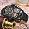 LIGE – montre-bracelet étanche 50 mètres pour hommes Double mouvement automatique mode Business Sport