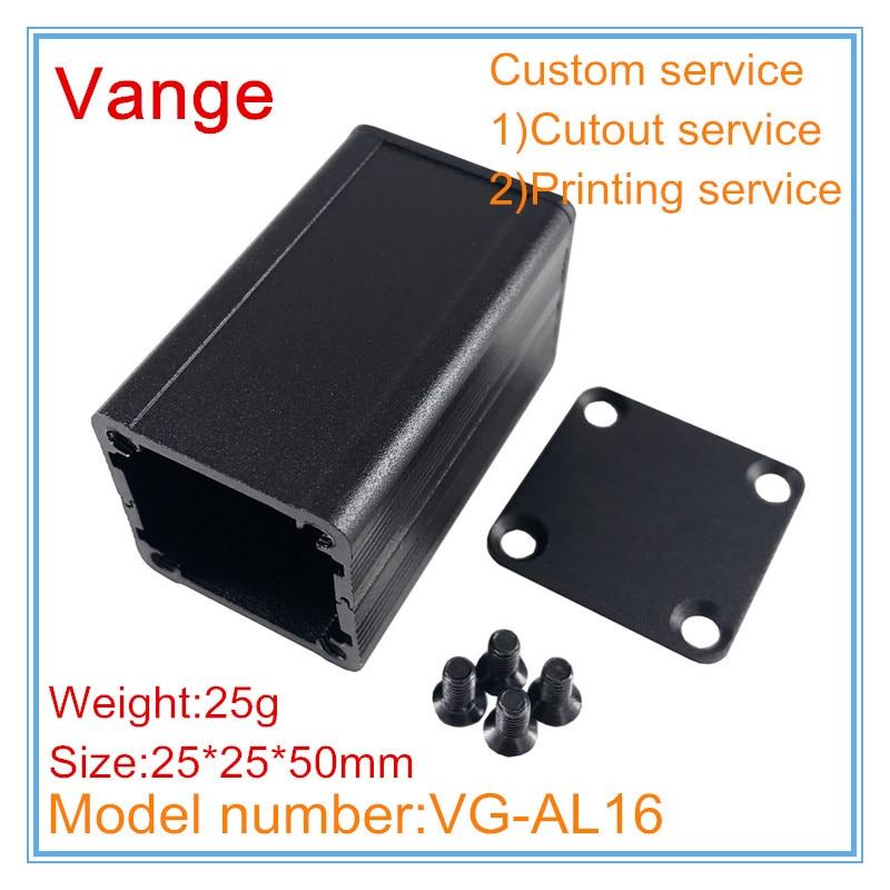 Алюминиевый корпус для самостоятельной сборки 6063-T5, алюминиевый корпус 25*25*100 мм, 1 шт./лот
