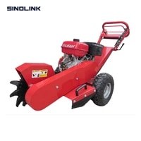 sinolink sg120 stump grinder grinding tree log wood gasoline engine powered atv towed forestry machine