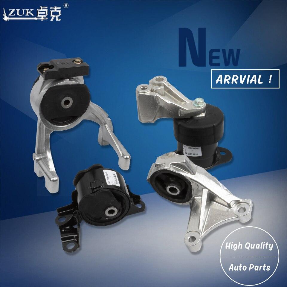 Zuk 4 pçs/set suporte de montagem de transmissão de borracha do motor para honda odyssey 2005 2006 2007 2008 rb1 2.4l em lhd modelo