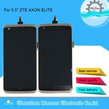 Originele M & Sen 5.5 Voor Zte Axon Elite A2015 A2016 Lcd-scherm + Touch Digitizer Frame Voor zte A2015 Lcd Display