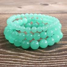 LanLi bijoux naturels additif couleur australien jades pierre perles en vrac Bracelet breloques Yoga hommes et femmes méditation amulette