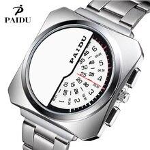 Nouveau Design Paidu hommes montres de luxe élégant pleine montre en acier Quartz dames montre-bracelet de mode mâle horloge Relojes haute qualité