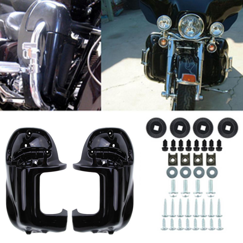 Para Harley Touring Road King Electra Glide Leg carenado, marco de cuerpo ABS con ventilación inferior, Kit de Panel inferior