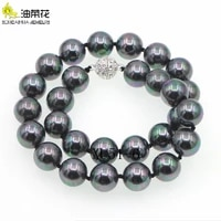 10mm black south sea shell pearl necklace aaa fashion glamour woman girl birthday gift christmas wedding jewelry wholesale 45cm