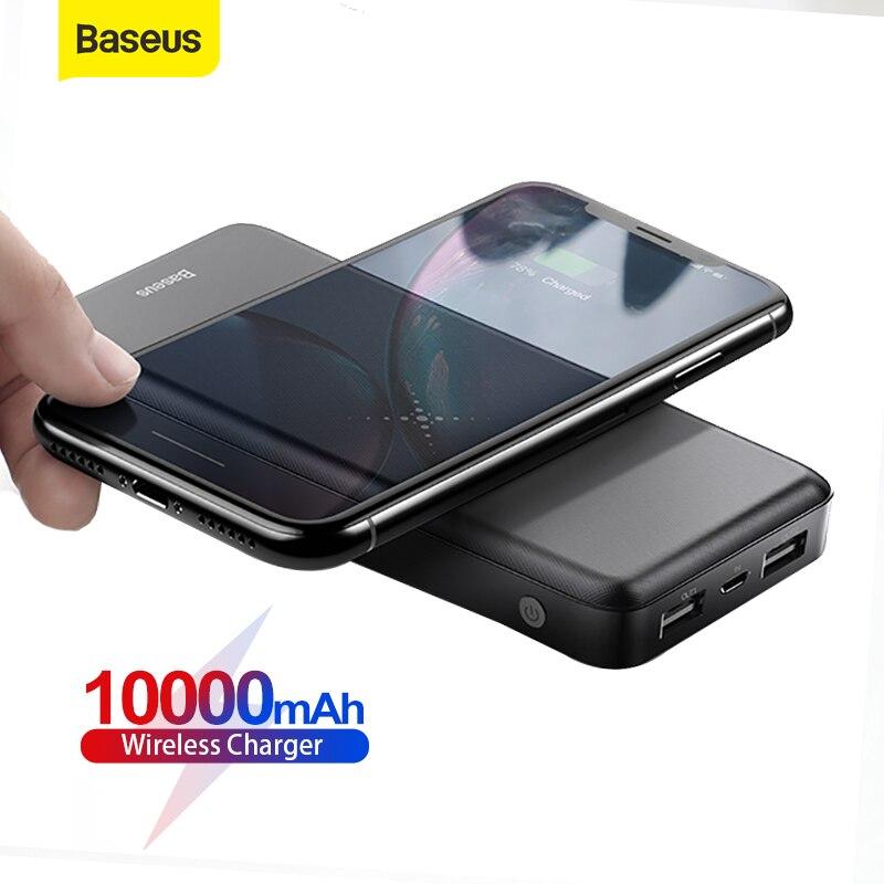 Baseus تشى شاحن لاسلكي قوة البنك 10000mAh USB PD شحن سريع شاحن بطارية خارجية محمولة السفر Powerbank للهاتف