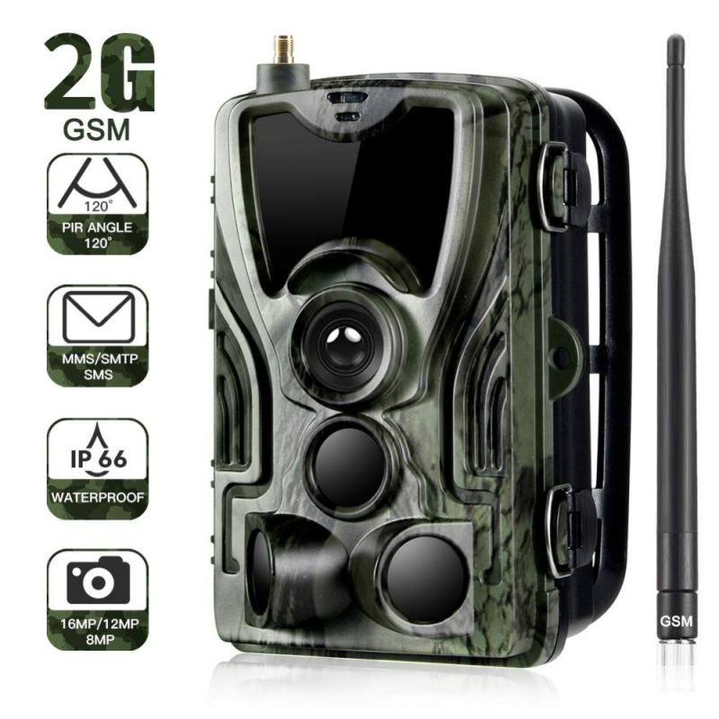 Review 2G MMS SMS SMTP Trail Wildlife Camera HC801M Wireless Photo Trap 16MP 1080P Night Version Cellular Mobile Hunting Cameras