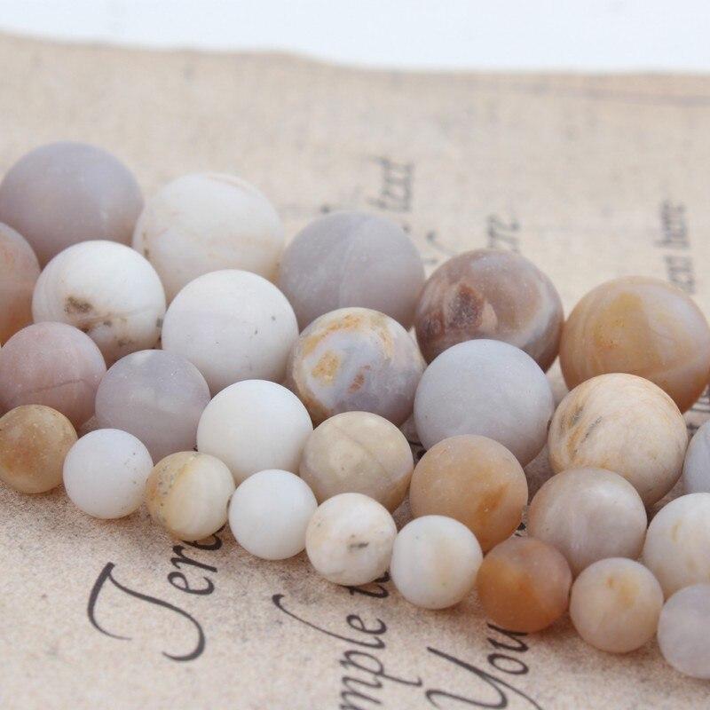 """Piedra Natural mate ágatas Multicolor ónix cuentas sueltas 15 """"hebra 6 8 10 12 MM Tamaño de selección para fabricación de joyería DIY Charm Bracelet"""