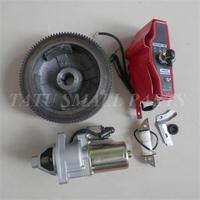 GX390 ELECTRIC START KIT FOR HONDA GX340 GX420 E*5500 6500 6.5KW GENERATOR STARTER MOTOR KEY SWITCH BOX FLYWHEEL CHARGING COIL