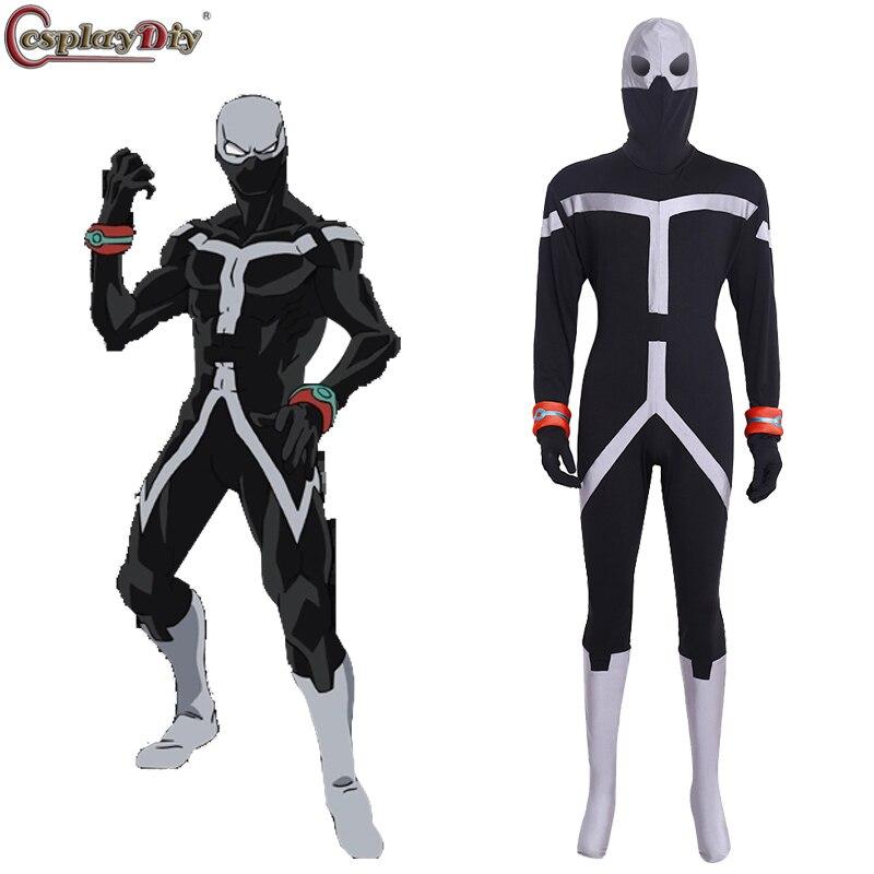 Cosplay de My Hero Academia Twice Jin Bubaigawara, traje Boku No Hero Akademia, traje negro para adultos, mono hecho a medida