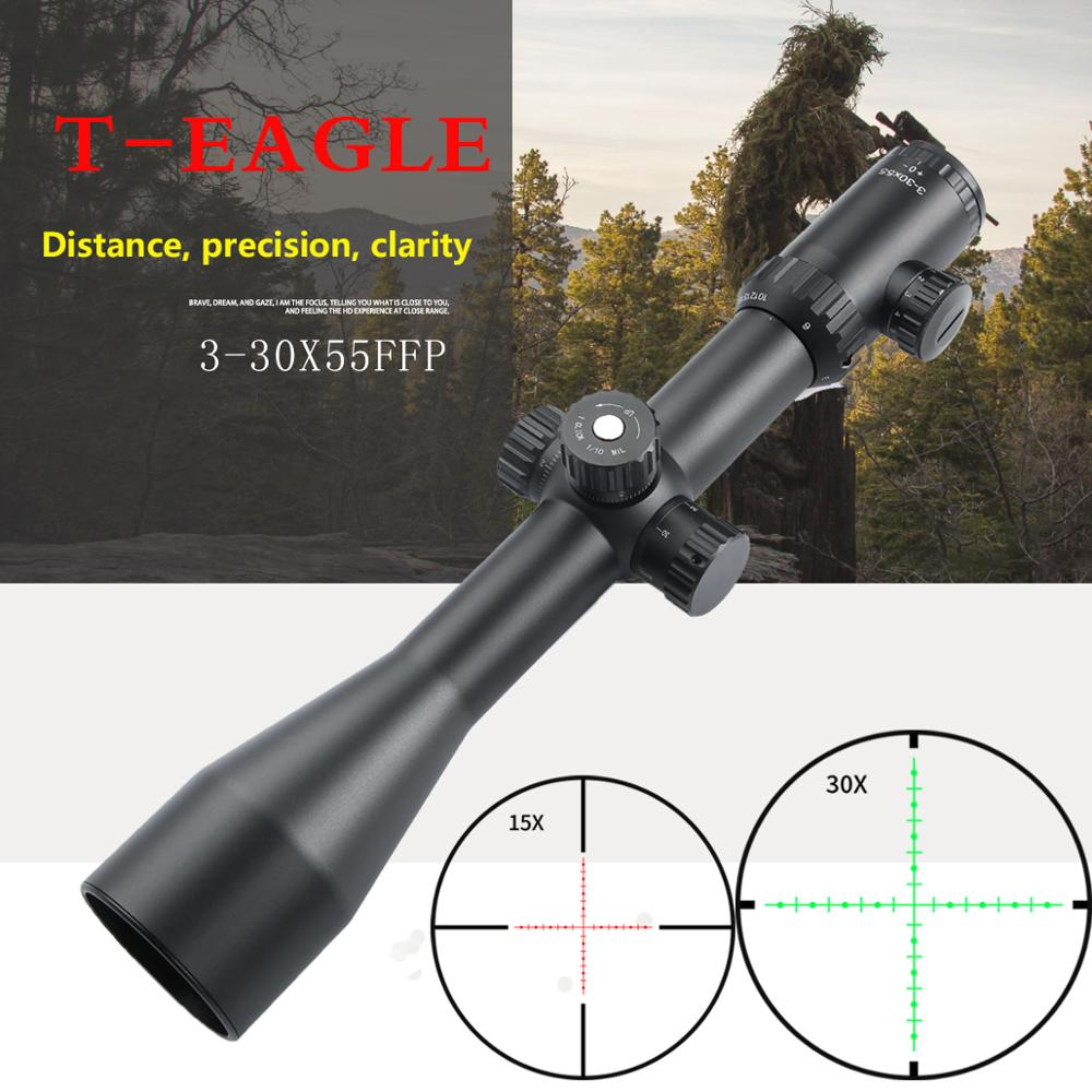 Teagle perseguidor caça óptica 5-33x55 ffp hd objetivo óptico colimador rifle de ar vista arma pneumática rifle escopo para a caça