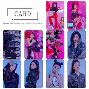 10Pcs/Set ITZY Photocard Photo Card PVC Crystal Card Stickers For Bus Student Card Stationery Set