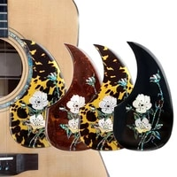thicken acoustic guitar pick guards inlay celluloid self adhesive scratch plate guitarra accessories