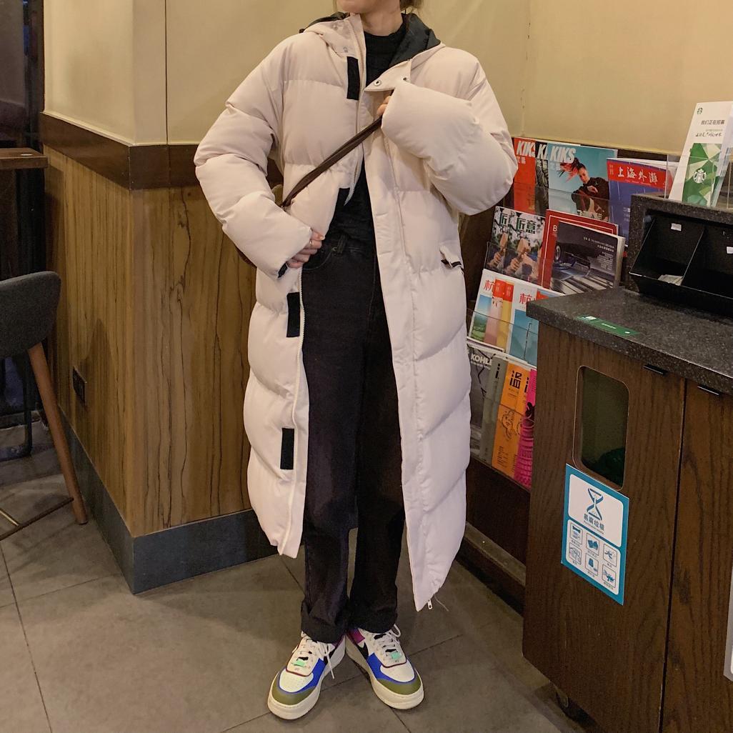 Женское зимнее пальто, длинное Свободное пальто с капюшоном, хлопковое пальто, женская пуховая парка, женская парка, зимнее пальто, женская ...