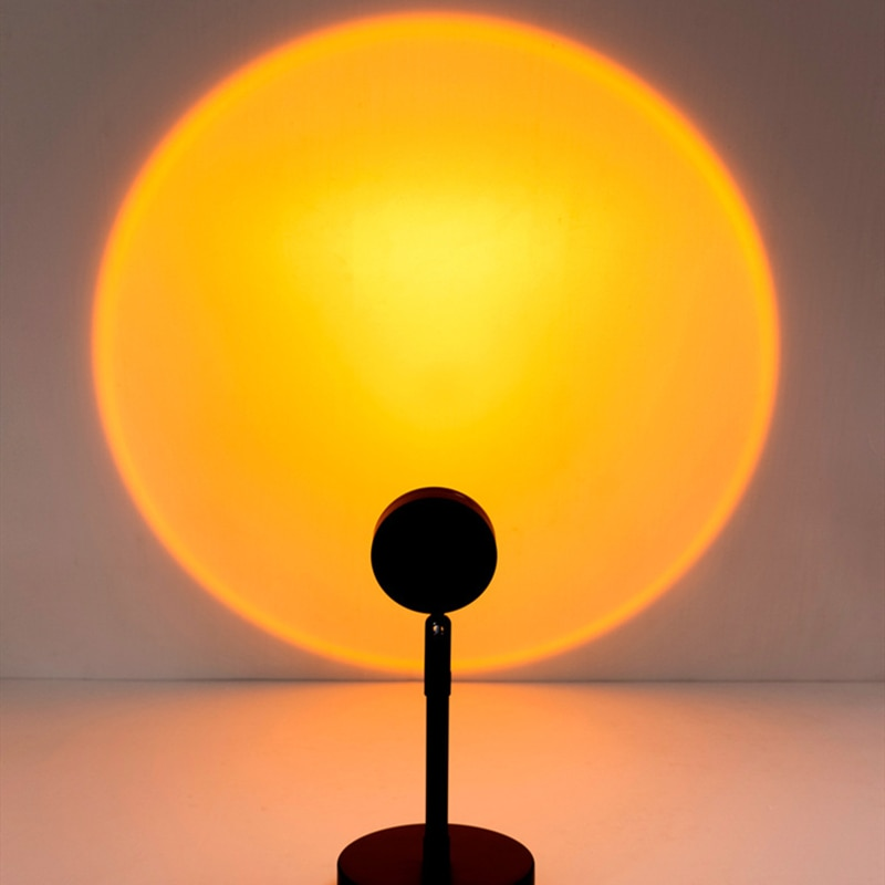 sunset projection lamp Floor lamps room decor home indoor lighting bedroom standing fancy lights Stand light color art deco USB