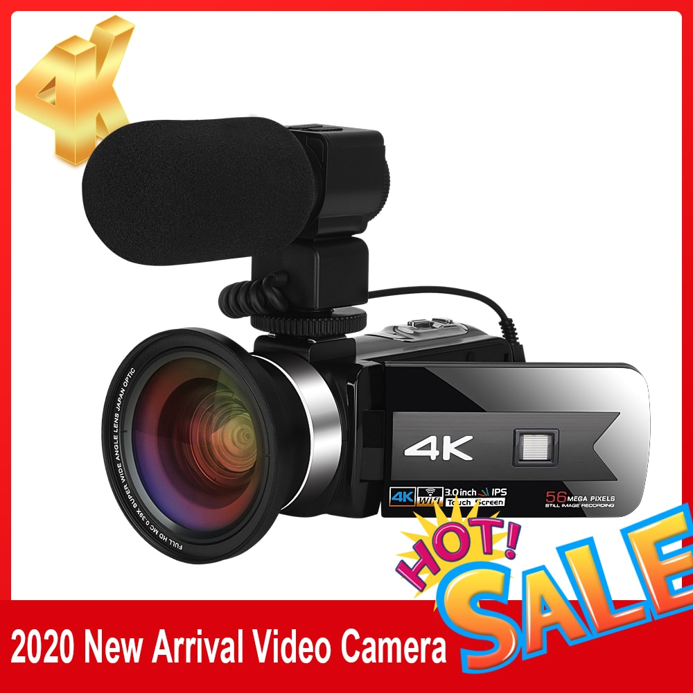 NEW Product Digital Video Camcorder for Youtube 4K 56MP Touch Screen Wecam Night Vision HD Recorder