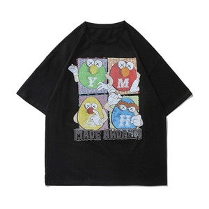 Men T Shirt Streetwear Harajuku Hip Hop chocolate Candy High Street Tshirt Oversize 100% Cotton Tees Tops Male Couple T-Shirt