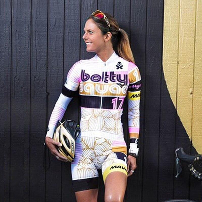 Bettydesigns-Conjunto de camisetas de Ciclismo para Mujer, Ropa de equipo profesional de...