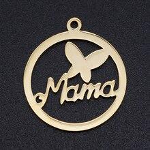 5 pcs/lot 100% acier inoxydable amour maman breloques en gros bricolage collier Bracelet faisant des breloques bijoux faisant des breloques