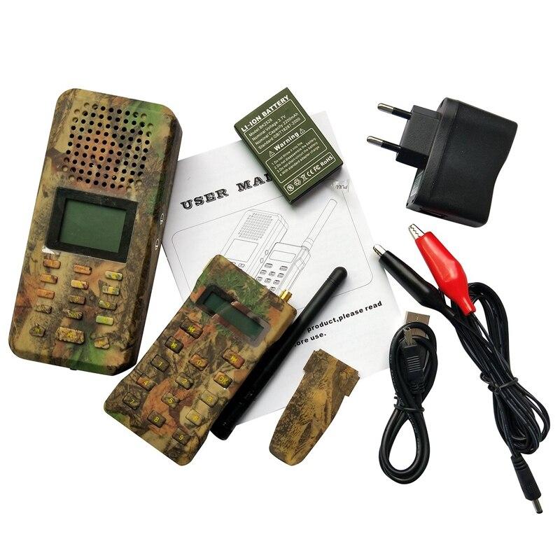 Outdoor Decoy Hunting Bird Caller MP3 with Remote Control Built-In 150 Bird Voices Predator Sound Caller Camouflage Color EU Plu