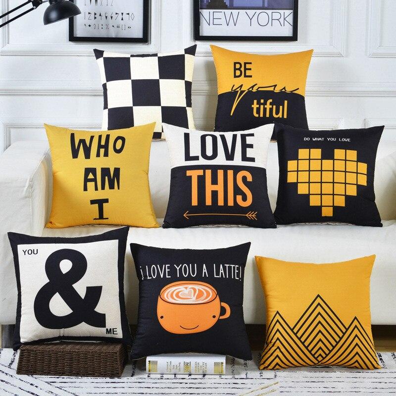 Cojines диван поясная подушка наволочка 30x5 0/40x4 0/45x4 5/40x6 0/50x5 0/55x5 5/60x60 см дешевая декоративная наволочка для дома