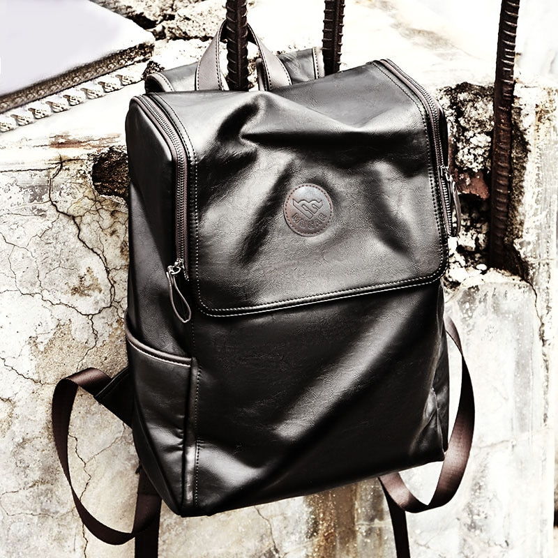 Vintage backpack men travel multifunctional large luxury leather backpacks laptop bag for men design