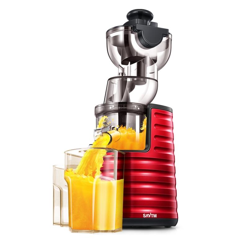 Espremedor de Laranja Automático Jucer Lento Smoothie Liquidificador Elétrico Máquina Juicer Leite Soja Moagem Misturador