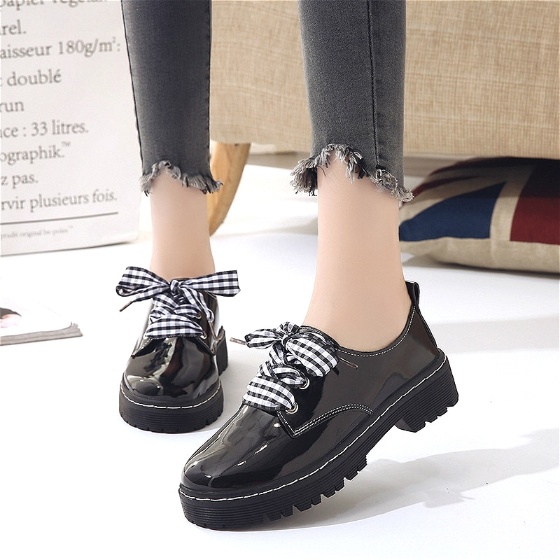 Jk Uniform Loli Shoes Female Lolita Sweet Girl Japanese Student Round Head Cute Pu Leather Shoes College Girl Lolita Cos Anime