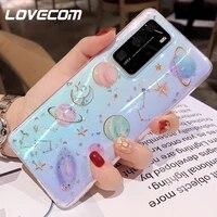 Custodia per telefono Planet Star Glitter per Xiaomi Redmi Note 9 8 Pro Mi 10 Pro Redmi 9 9A 6A morbida epossidica trasparente P hone Cover posteriore Coque